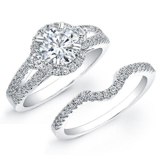 105 best Unique Halo Wedding Ring Set images on Pinterest Round