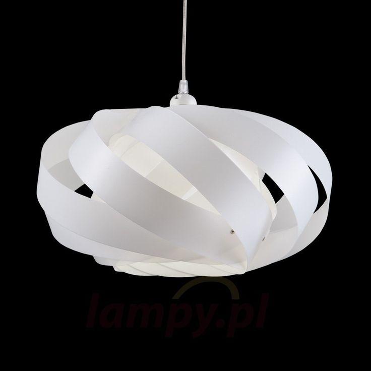 Wykonana z pasków lampa wisząca Mininest biała 1056034