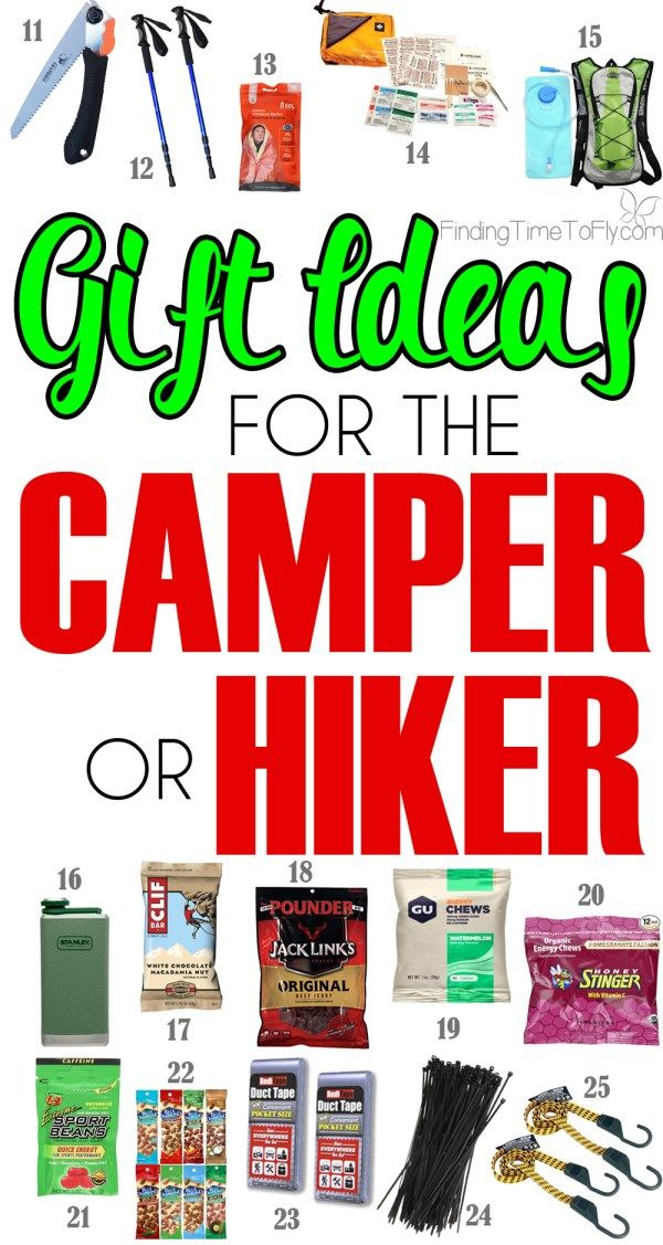 For The Camper Or Hiker On Your Christmas List Here Are 35 Great Gift Ideas Outdoorsman Who Loves To Camp And Hike