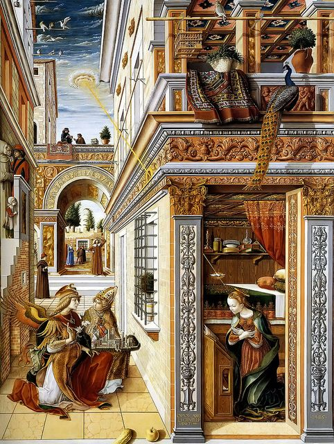 """I HAVE THIS[POSTER  Carlo Crivelli """"Annunciation"""" 1486 