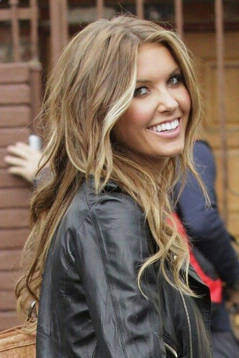 caramel highlights for light brown hair looked like Audrina Patridge. lol