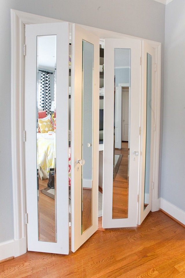Improve Your Closet With These Door Ideas Creative Bliss Mirror Doors Alternative Folding