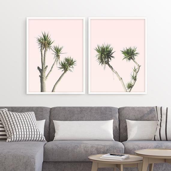Palm Tree Print Set Of 2 Prints Boho Decor Living Room Wall Art Desert Decor Bohemian Art Cac In 2020 Desert Decor Living Room Boho Living Room Decor Living Room Decor #palm #tree #living #room