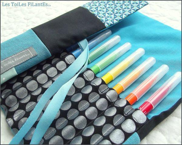Des p'tites trousses à crayons ou feutres - Les toiles filantes...