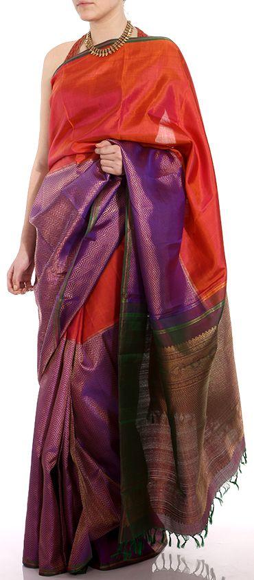 Stunning and Unique Kanjivaram Sari on www.myruh.com