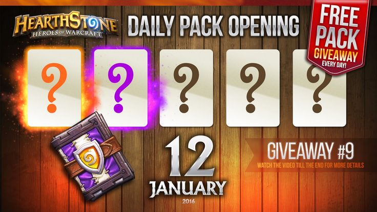 FREE Pack Giveaway #9 / 1 Legendary & 1 Epic Cards! Hearthstone Packs Op...