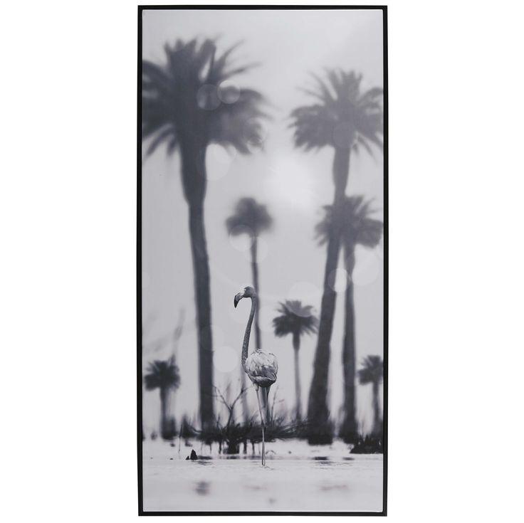 Zwarte kader met print 57 x 118 cm MALAMBO