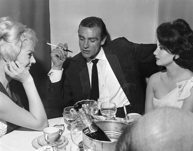 Screen star: Anita Ekberg, Sean Connery and Zena Marshall at 'Dr No' film screening after party