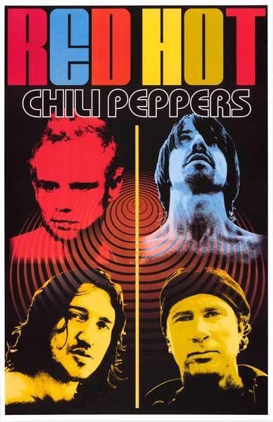 Red Hot Chili Peppers Band Trippy Collage Rare Poster
