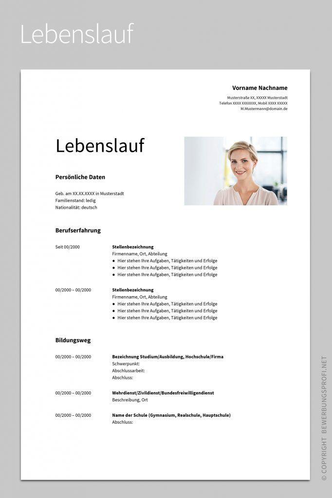 Musterbewerbung Albus Bewerbungsprofi Net Lebenslauf Bewerbung Lebenslauf Vorlage Lebenslauf Design Vorlage