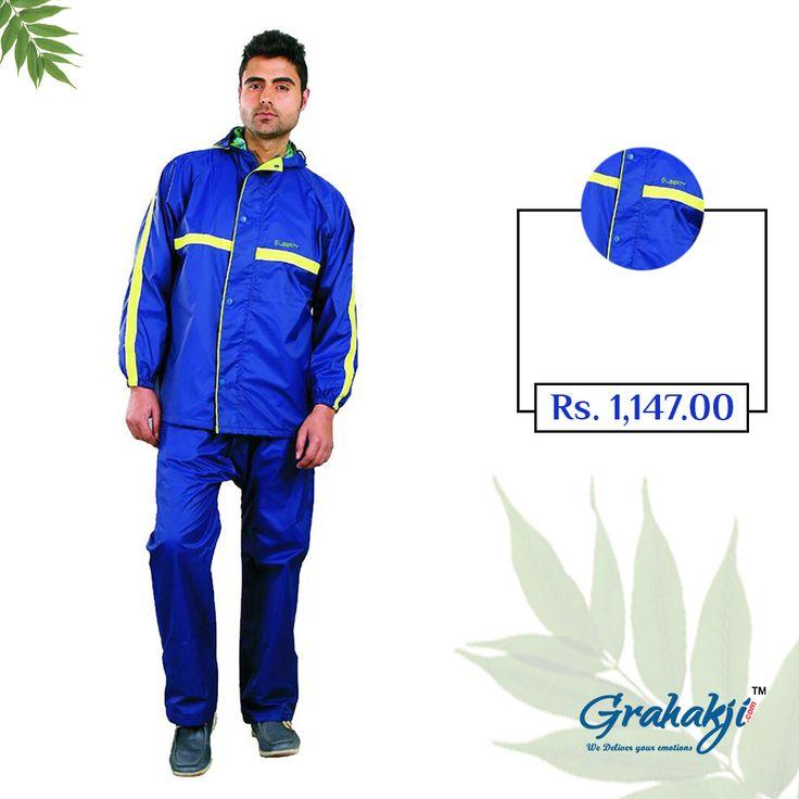 Mens Dio Reversible suit checks lining inside #RainSuit #RainCoat #RainCoatForMen #Online #Shopping #Grahakji