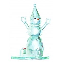 Galway Crystal - Snowman Single Votive 16.5cm. €22.50