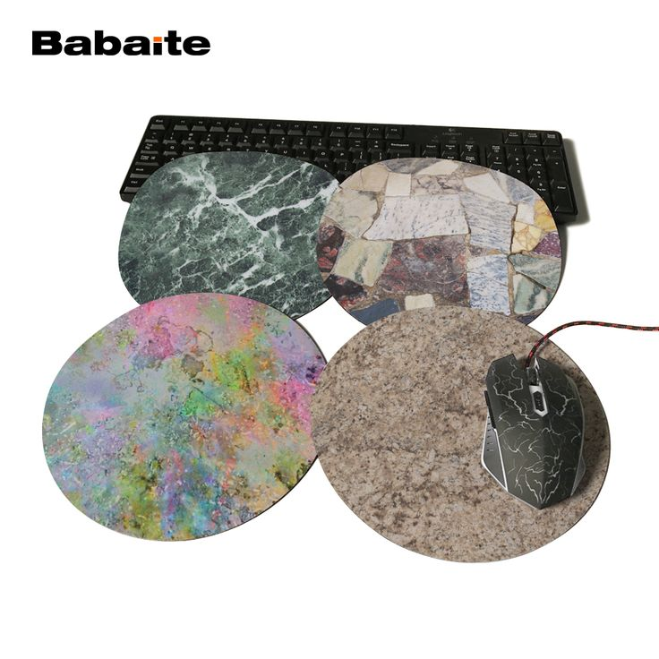 Babaite Marble Texture Rubber Mousepad Computer Loptop Desktop Brown Marble Swirled Mice Mat Optical Anti-slip Gaming Mouse Pad #Affiliate