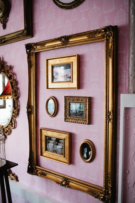I like the idea of using a larger frame to encompass several smaller frames.  - Orisons Art & Framing