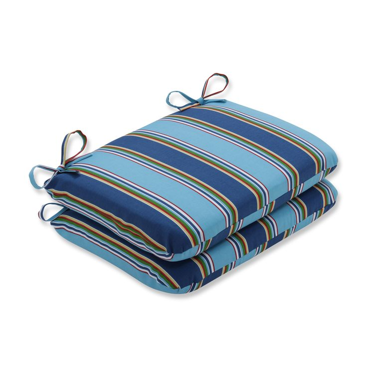 Pillow Perfect Outdoor/ Indoor Bonfire Regata Rounded Corners Seat Cushion