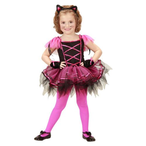 Kinder-Katzen-Kostuem-Ballerina-Katzenkostuem-Tuetue-Kaetzchen-Kleid-Katze-Karneval