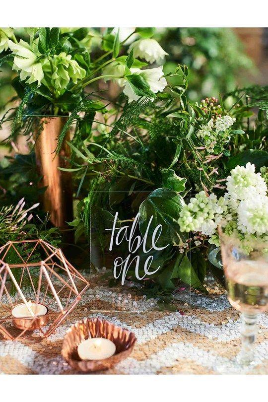 Green wedding theme ideas - pantone greenery colour scheme (BridesMagazine.co.uk)