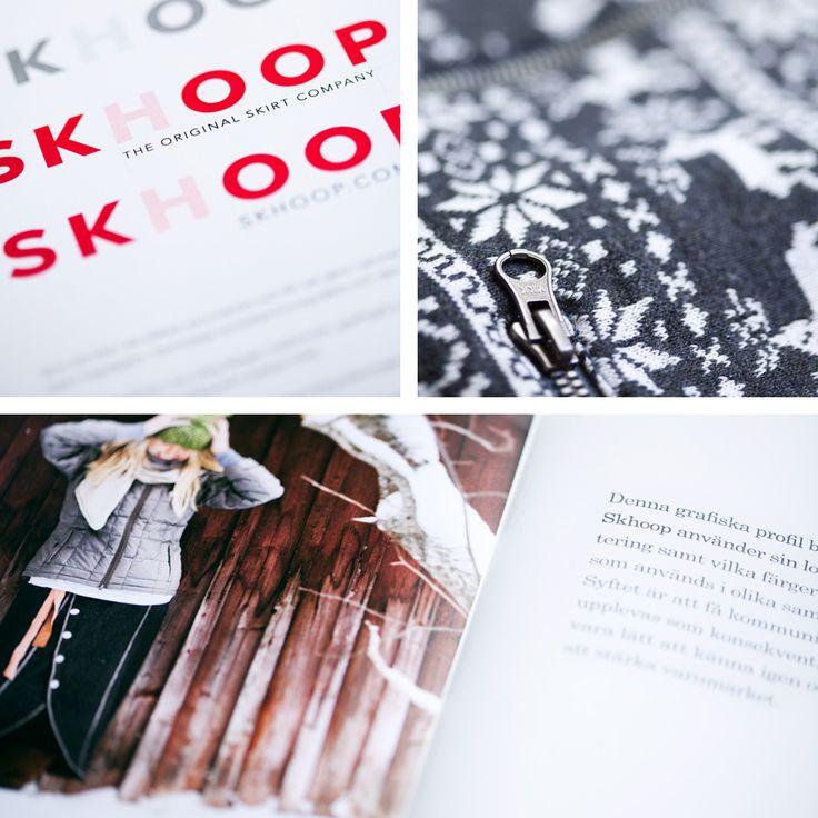 För täckkjolens skapare Skhoop har jag tagit fram den visuella identiteten. Graphic brand for Skhoop.