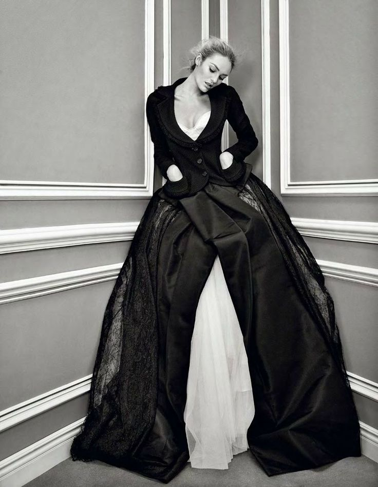 .Full Skirts, V Magazines, Candice Swanepoel, Daphne Groeneveld, Patricks Demarchelier, Fashion Looks, Patrick Demarchelier, Black, Haute Couture