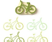 Cycler's Bicycle Stamp - Hand Carved Rubber Stamp