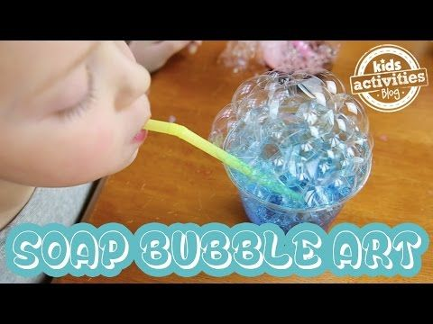 Soap Bubble Art - YouTube