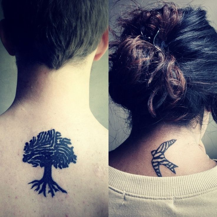 26 Matching Tattoo Ideas for Couples. Kinda like some of them.