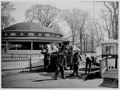 (Image: Men Preparing the Park for Opening)