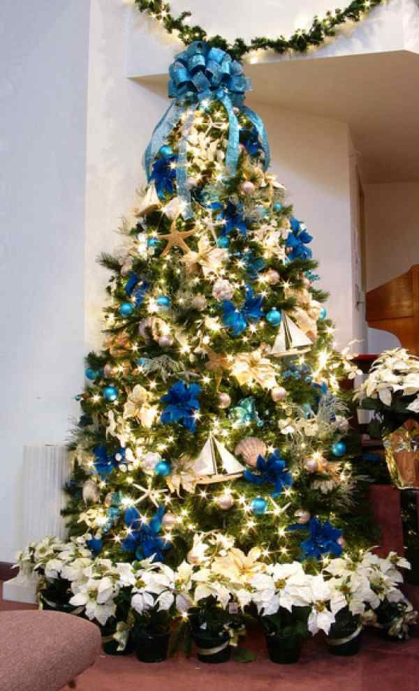 Christmas tree decorations themes christmas pinterest - Blue themed christmas tree ...