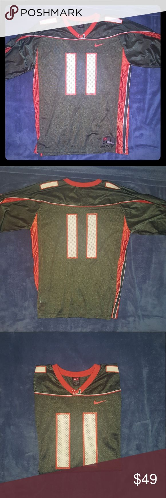 Nike Miami Hurricanes #11 game jersey Miami Hurricanes game jersey, size L,  perfect for Saturday's, nylon and polyester Nike Shirts Tees - Short Sleeve