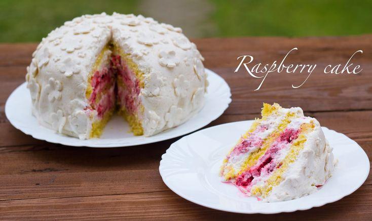 Bez Papriky: Raspberry cake/ Malinový dort