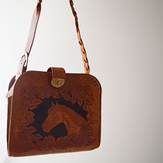 Made By Mee + Co | Tan Leather Horse Bag