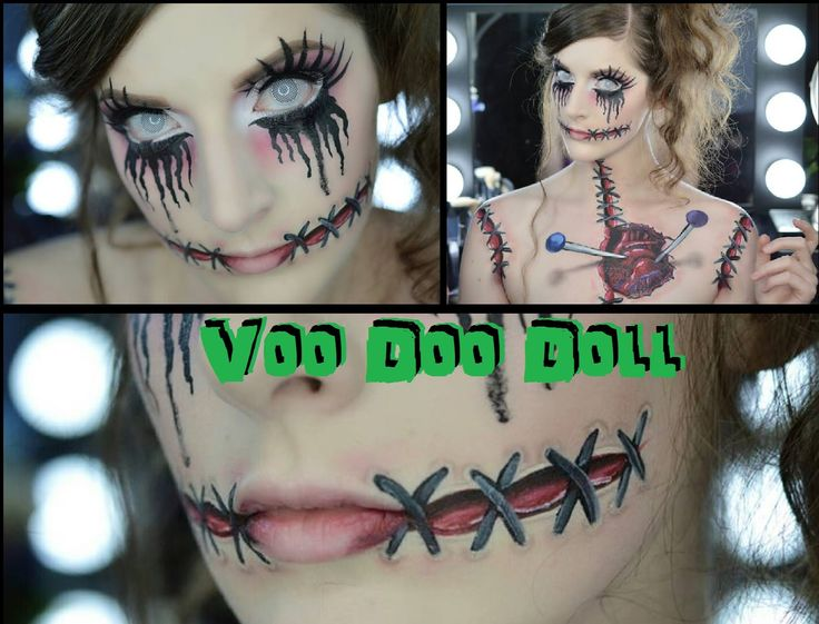 Caitlyn Kreklewich  is an amazing makeup artist! VooDoo Doll   SFX Halloween Makeup/Hair Tutorial