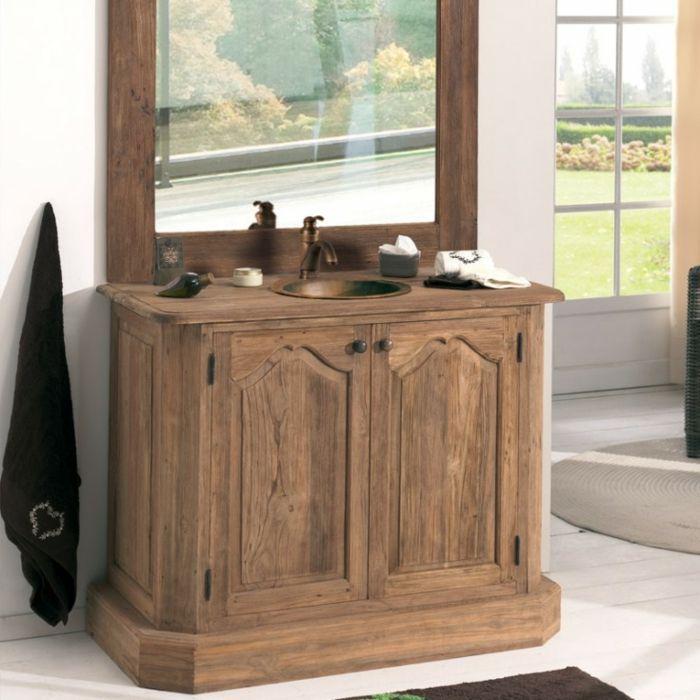 Wandschrank für Badezimmer spiegel antik holz Salle de bain - badezimmer wandschrank