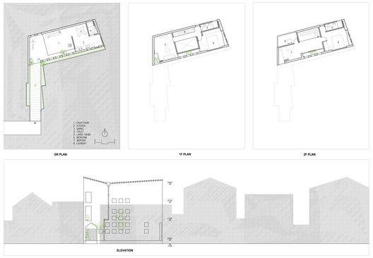 The Cul-de-sac House,Plan / Elevation