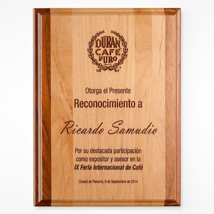 Placa  de Reconocimiento - Madera Genuina Grabado Laser -  http://tiendamydesign.com/productos/placa-de-reconocimiento-madera-genuina-grabado-laser-panama2