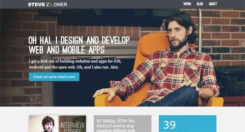 Great fixed header website