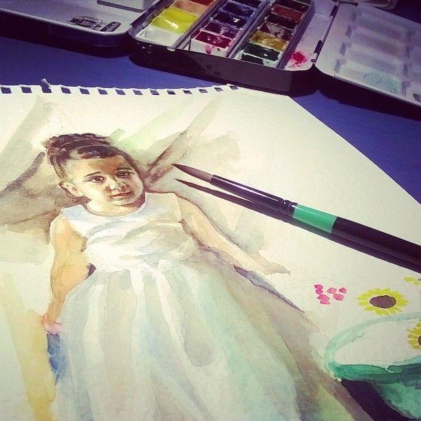 watercolor by Vasiliki Dimtsiou