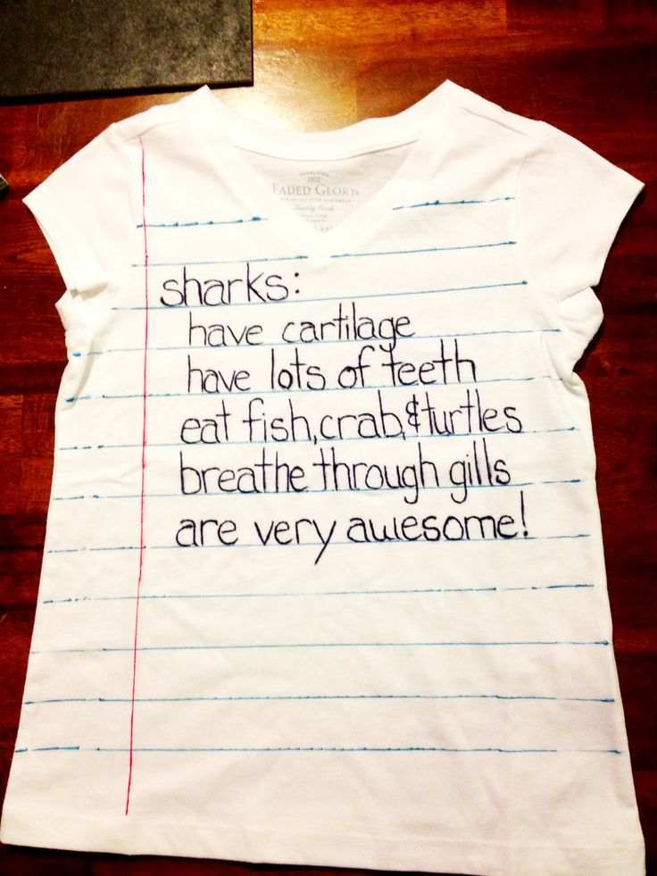 Sharpie shirt idea. Write down your child's description of their favorite thing on their shirt using sharpies