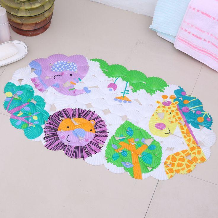 Cartoon Anti-Slip PVC Bath Mat With Suction Cups Animal World Carpet Used for Bathroom Safety Non-slip Floor Rug Floor mat