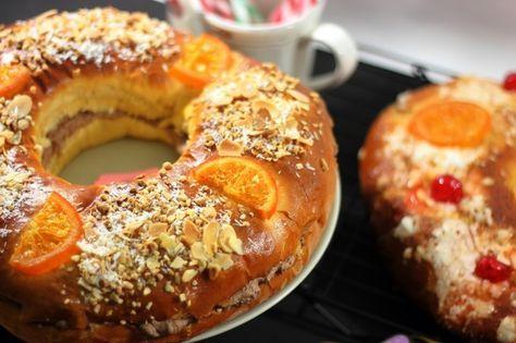 Roscón de Reyes sin azúcar con relleno de trufa exprés