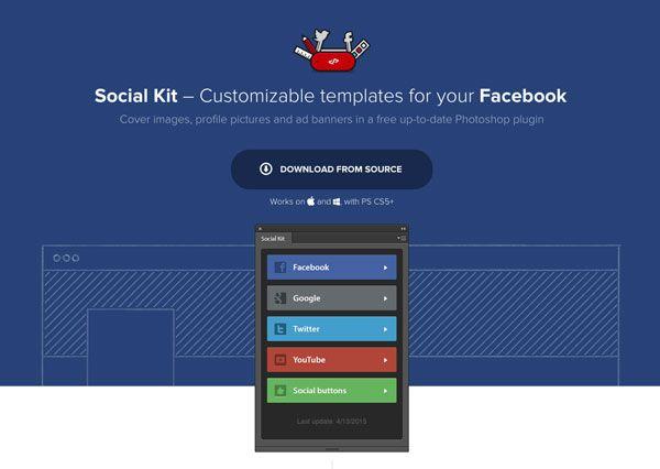 Social Kit : un plugin Photoshop pour customiser vos réseaux sociaux