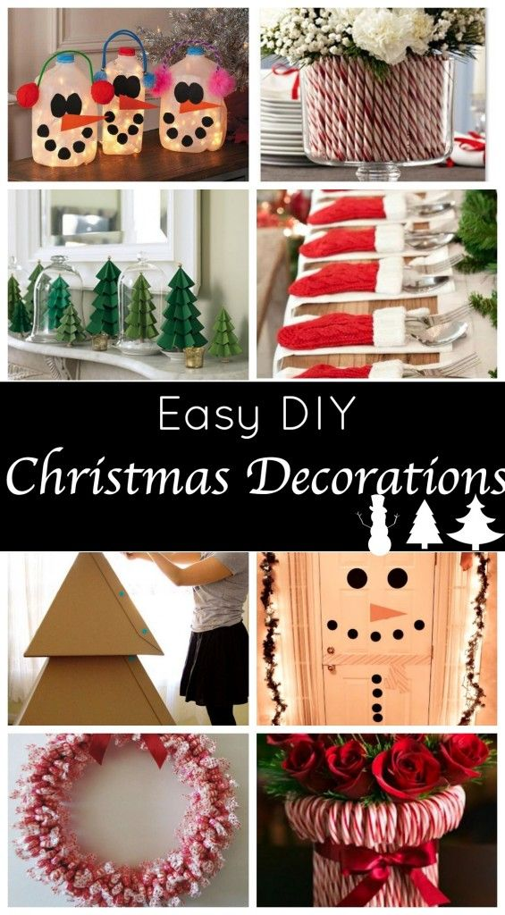 Easy DIY Christmas decorations - Get ready to start your holiday decorating! Super easy and super cute!
