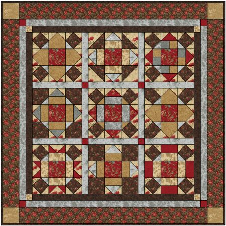 Chocolate Cake And Roses  Six Month Bom Quilt