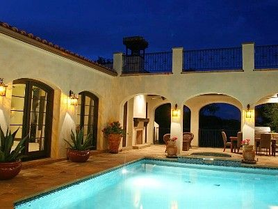 17 best images about home elevation on pinterest spanish for Hacienda house plans with courtyard