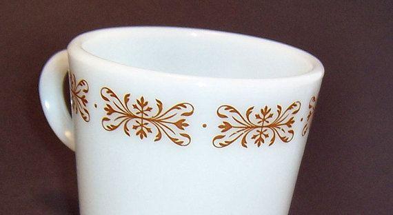 Pyrex Mug Cup White Coffee Mug White Tea Cup by SierrasTreasure