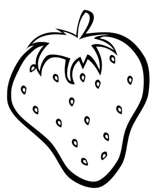 Free Strawberry Healthy Fruit Coloring Pages For Kids