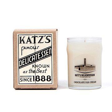 Katz's Chocolate Egg Cream Candle | New York, Manhattan, Katz Deli | UncommonGoods