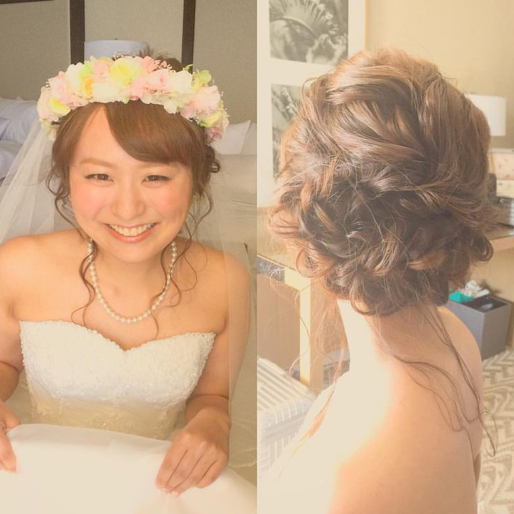 Today's bride 💍 編み編みおくれ毛スタイル. このキュートスマイルに新郎さま、うっとりでした♡ #kumikoprecious #hawaii #hawaiiwedding #wedding #weddinghair #bride #bridehair #hair #hairmake #hairstyle #hairarrange #loose #updo #smile #ハワイ #ハワイ挙式 #ハワイウェディング #ウェディング #結婚式 #花嫁 #プレ花嫁 #おしゃれ花嫁 #ヘアメイク #ヘアスタイル #ヘアアレンジ #ルーズ #波ウェーブ #シニヨン #編み込み #花かんむり