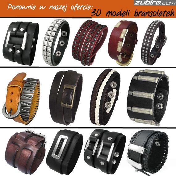 Zobacz bransoletki skórzane, które w tym tygodniu ponownie pojawiły się w naszym sklepie: http://zubiro.com/bransoletki_skorzane,5,0.html