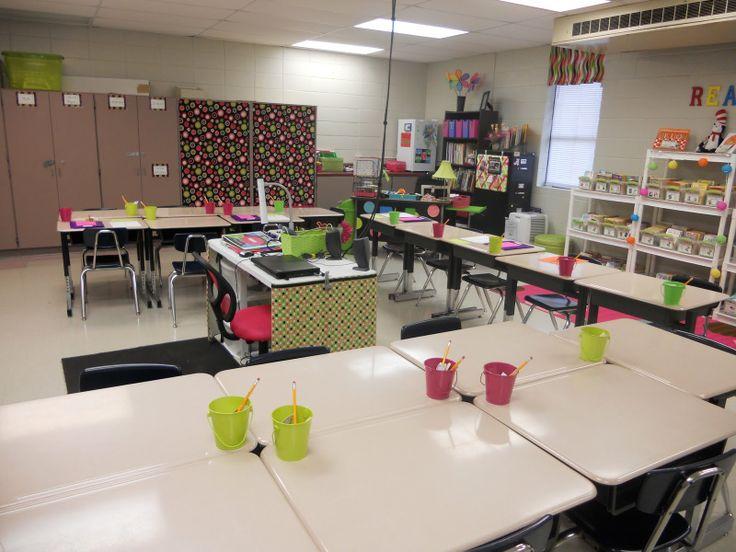 Classroom Decoration Desk Arrangements : The desk arrangement except all pix i see have
